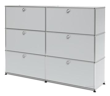 usm haller highboard l individualisierbar lichtgrau ral 7035 mit 2 klappen mit 2 klappen. Black Bedroom Furniture Sets. Home Design Ideas