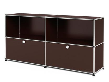 USM Haller Sideboard L, individualisierbar USM braun|Offen|Mit 2 Klappen
