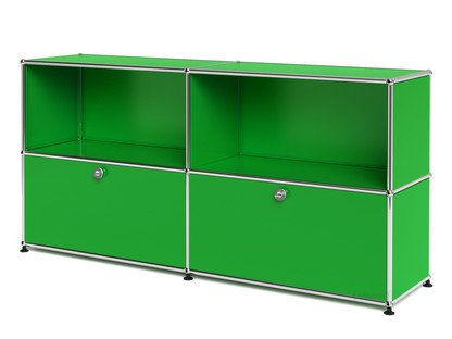 usm haller sideboard l individualisierbar usm gr n offen mit 2 klappen von fritz haller. Black Bedroom Furniture Sets. Home Design Ideas