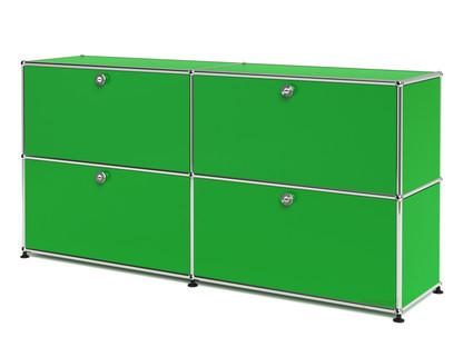 USM Haller Sideboard L, individualisierbar USM grün|Mit 2 Klappen|Mit 2 Klappen