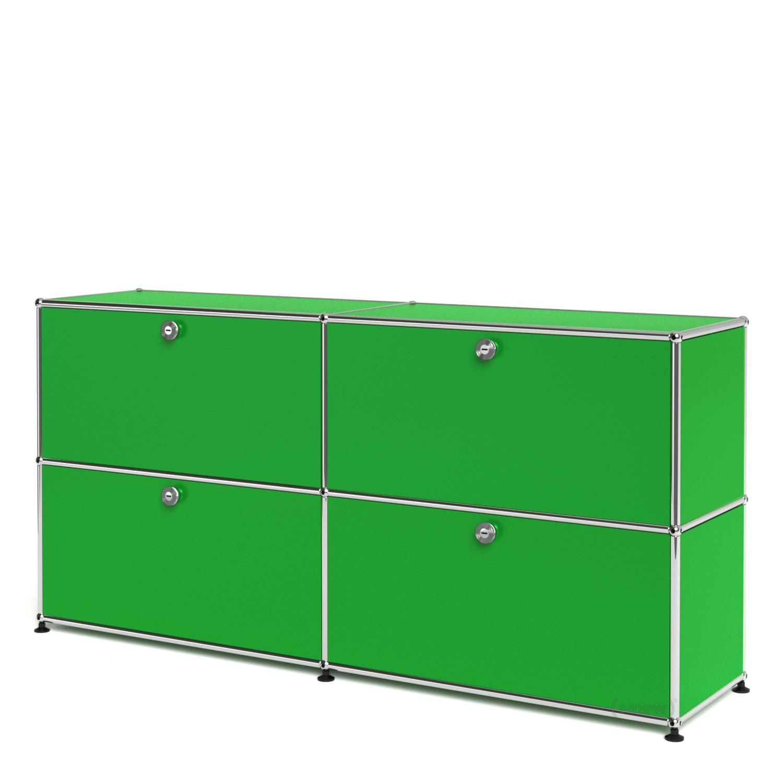 usm haller sideboard l individualisierbar usm gr n mit. Black Bedroom Furniture Sets. Home Design Ideas