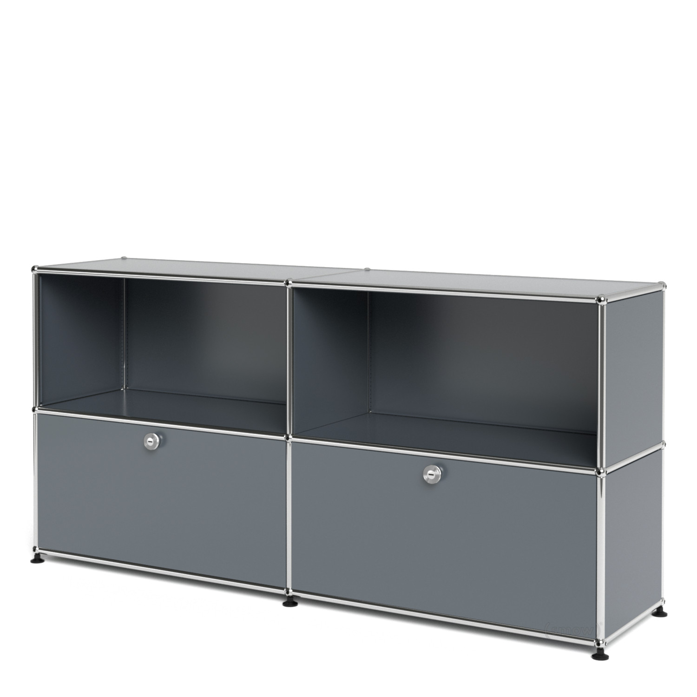 usm haller sideboard l individualisierbar mittelgrau ral. Black Bedroom Furniture Sets. Home Design Ideas