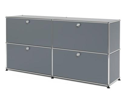 USM Haller Sideboard L, individualisierbar Mittelgrau RAL 7005|Mit 2 Klappen|Mit 2 Klappen