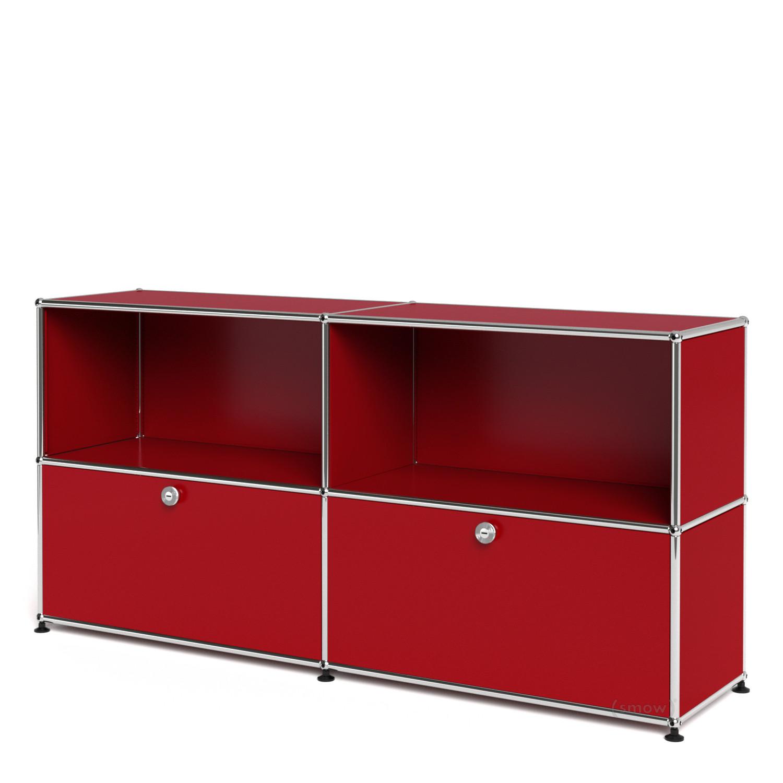 usm haller sideboard l individualisierbar usm rubinrot. Black Bedroom Furniture Sets. Home Design Ideas