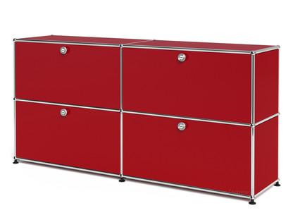 USM Haller Sideboard L, individualisierbar USM rubinrot|Mit 2 Klappen|Mit 2 Klappen
