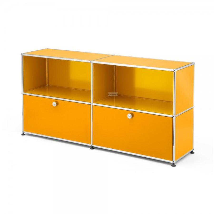 usm haller sideboard l individualisierbar goldgelb ral 1004 offen offen von fritz haller. Black Bedroom Furniture Sets. Home Design Ideas