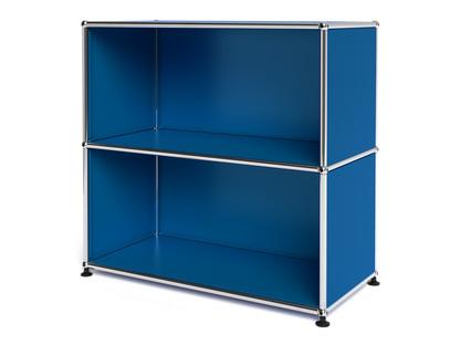 USM Haller Sideboard M, individualisierbar Enzianblau RAL 5010|Offen|Offen