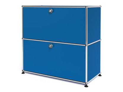 USM Haller Sideboard M, individualisierbar Enzianblau RAL 5010|Mit Klappe|Mit Klappe