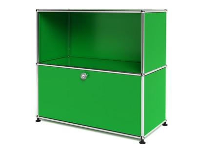 USM Haller Sideboard M, individualisierbar USM grün|Offen|Mit Klappe