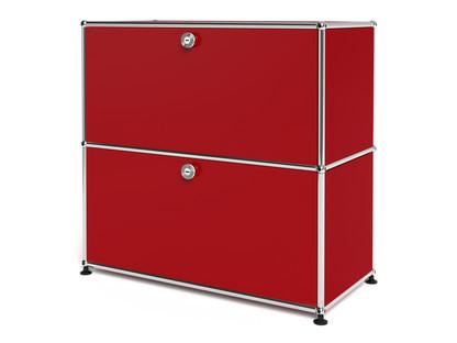 USM Haller Sideboard M, individualisierbar USM rubinrot|Mit Klappe|Mit Klappe