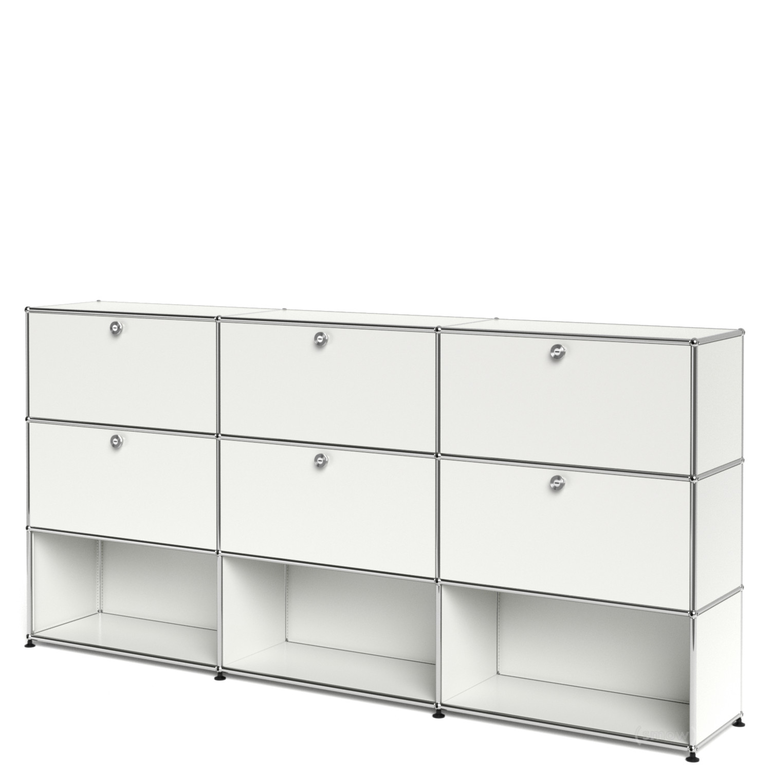 usm haller highboard xl individualisierbar reinwei ral 9010 mit 3 klappen mit 3 klappen. Black Bedroom Furniture Sets. Home Design Ideas