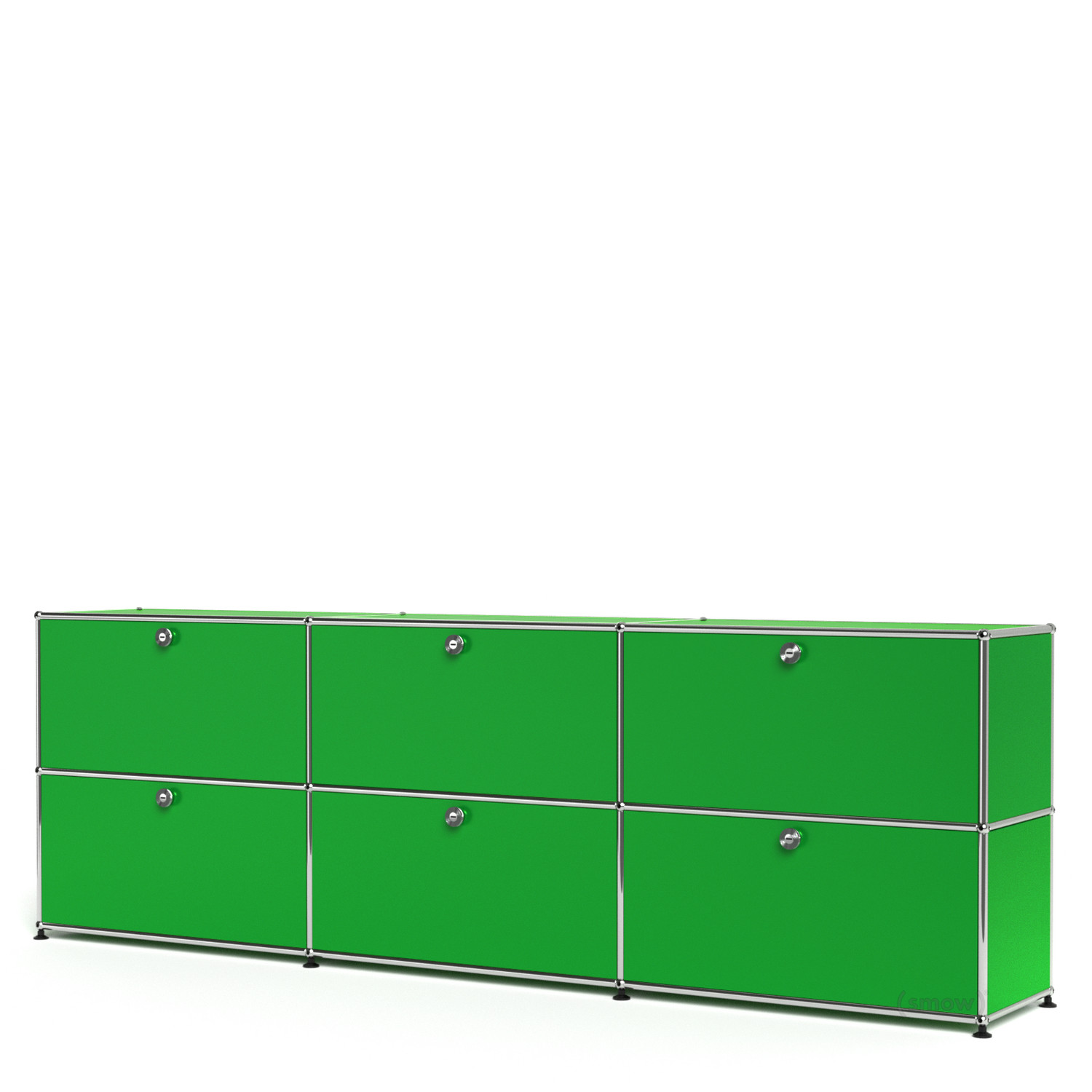 usm haller sideboard xl individualisierbar usm gr n mit 3 klappen mit 3 klappen von fritz. Black Bedroom Furniture Sets. Home Design Ideas