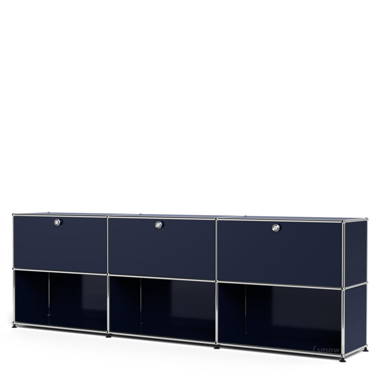 usm haller sideboard xl individualisierbar stahlblau ral. Black Bedroom Furniture Sets. Home Design Ideas