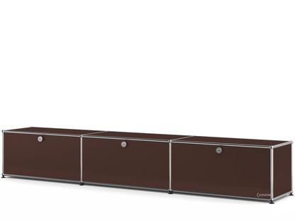 USM Haller Lowboard XL, individualisierbar USM braun|Mit 3 Klappen|35 cm