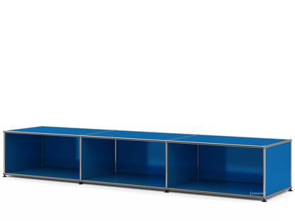 USM Haller Lowboard XL, individualisierbar Enzianblau RAL 5010|Offen|50 cm