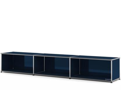 USM Haller Lowboard XL, individualisierbar Stahlblau RAL 5011|Offen|35 cm