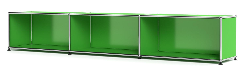 usm haller lowboard xl individualisierbar usm gr n offen. Black Bedroom Furniture Sets. Home Design Ideas