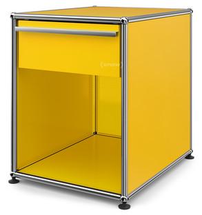 USM Haller Nachttisch mit Schublade Goldgelb RAL 1004|Groß (H 54 x B 42,5 x T 53 cm)