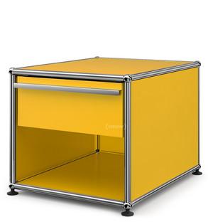 Nachttisch mit schublade  USM Haller Nachttisch mit Schublade, Goldgelb RAL 1004, Klein (H ...