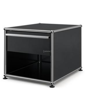USM Haller Nachttisch mit Schublade Graphitschwarz RAL 9011|Klein (H 39 x B 42,5 x T 53 cm)
