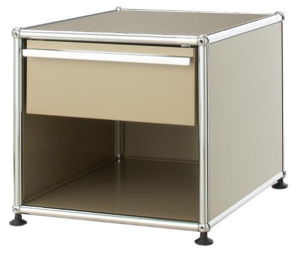 usm haller nachttisch mit schublade usm gr n klein h 39. Black Bedroom Furniture Sets. Home Design Ideas