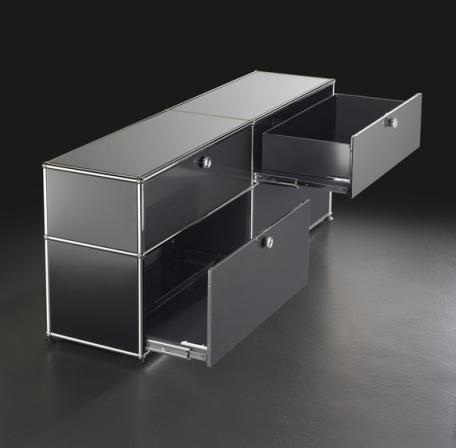 usm haller bedside table with drawer by fritz haller. Black Bedroom Furniture Sets. Home Design Ideas