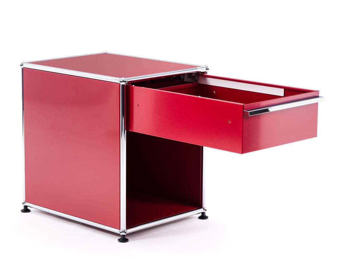 usm haller nachttisch mit schublade reinorange ral 2004. Black Bedroom Furniture Sets. Home Design Ideas