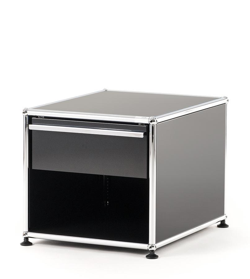 usm haller nachttisch mit schublade von fritz haller. Black Bedroom Furniture Sets. Home Design Ideas