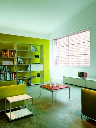 usm haller wohnzimmer regal xl typ ii von fritz haller paul sch rer designerm bel von. Black Bedroom Furniture Sets. Home Design Ideas