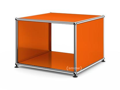 USM Haller Beistelltisch mit Seitenwänden 50 cm|ohne Glas-Zwischentablar|Reinorange RAL 2004
