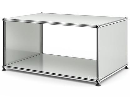 USM Haller Beistelltisch mit Seitenwänden 75 cm|ohne Glas-Zwischentablar|Lichtgrau RAL 7035
