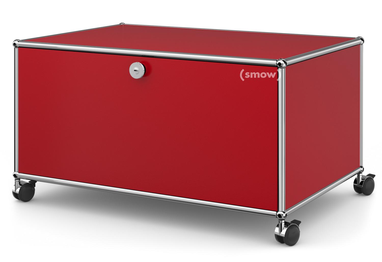 usm haller tv lowboard auf rollen mit klappt r und. Black Bedroom Furniture Sets. Home Design Ideas