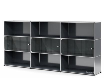 USM Haller Highboard XL mit 3 Glastüren