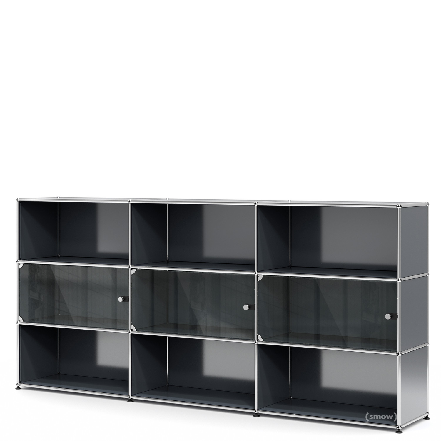 Usm Haller Highboard Xl Mit 3 Glasturen Von Fritz Haller Paul