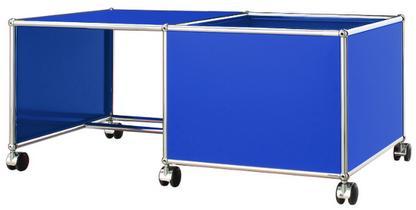 USM Haller Kinder Rolltisch Kasten rechts|Enzianblau RAL 5010