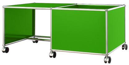 USM Haller Kinder Rolltisch Kasten rechts|USM grün