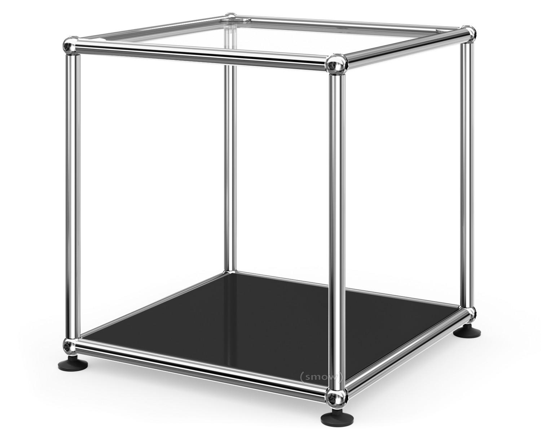 Unglaublich Beistelltisch Metall Glas Galerie Von Usm Haller 35 Oben Glas, Unten Metall|graphitschwarz