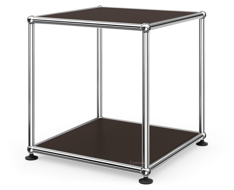 usm haller beistelltisch 35 oben und unten metall usm braun von fritz haller paul sch rer. Black Bedroom Furniture Sets. Home Design Ideas