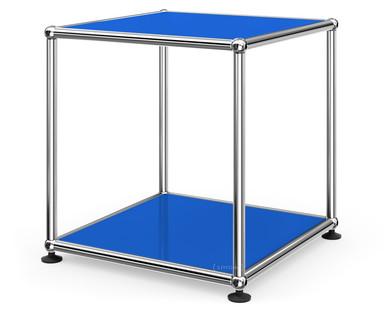 USM Haller Beistelltisch 35 Oben und unten Metall|Enzianblau RAL 5010