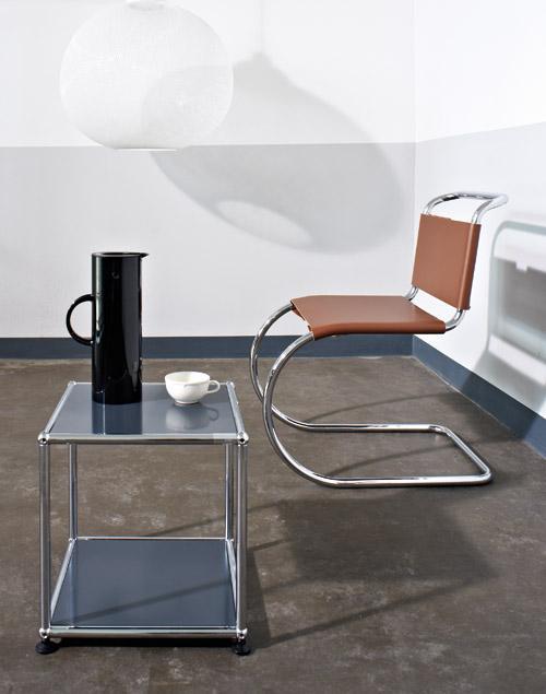 usm haller side table 35 by fritz haller paul sch rer. Black Bedroom Furniture Sets. Home Design Ideas