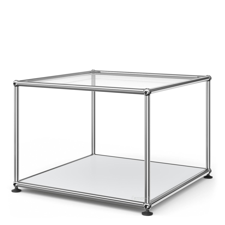 Außergewöhnlich Beistelltisch Metall Glas Referenz Von Usm Haller 50 Oben Glas, Unten M