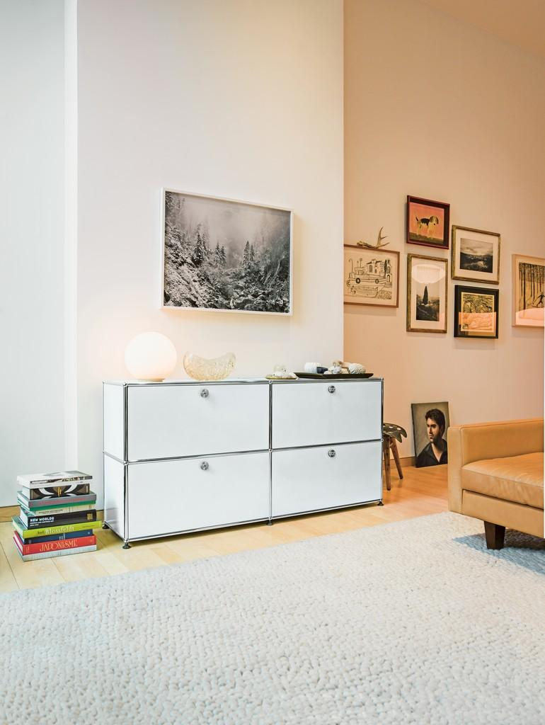 usm haller side table 50 by fritz haller paul sch rer designer furniture by. Black Bedroom Furniture Sets. Home Design Ideas
