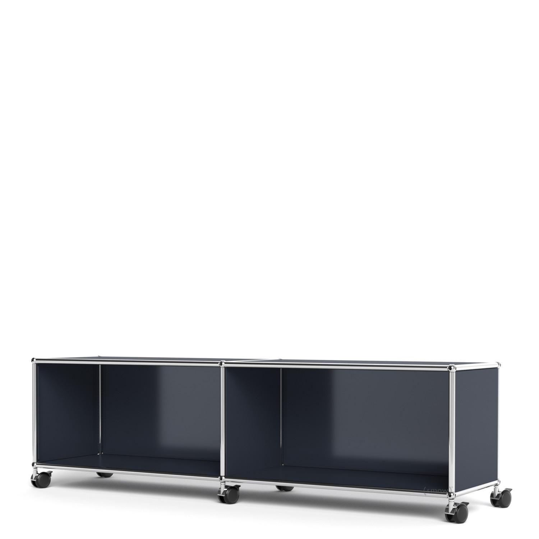 usm haller tv hi fi lowboard individualisierbar anthrazitgrau ral 7016 offen ohne. Black Bedroom Furniture Sets. Home Design Ideas