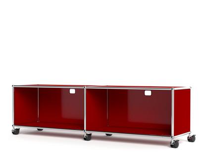 USM Haller TV-/Hi-Fi-Lowboard, individualisierbar USM rubinrot|Mit 2 Klappen|Mit Kabeldurchlass oben mittig