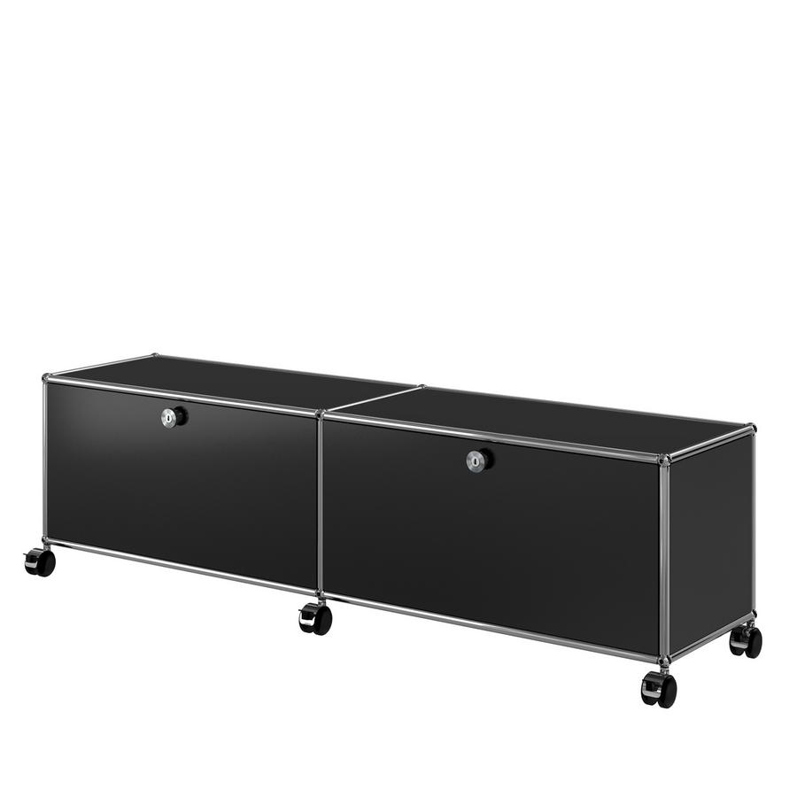 usm haller tv hi fi lowboard individualisierbar von fritz haller paul sch rer. Black Bedroom Furniture Sets. Home Design Ideas