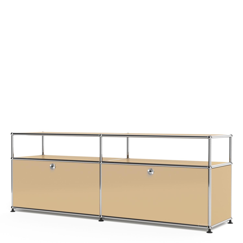 usm haller lowboard l mit aufbau individualisierbar usm beige mit 2 klappen mit. Black Bedroom Furniture Sets. Home Design Ideas
