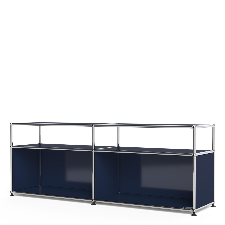 Usm Haller Lowboard L Mit Aufbau Individualisierbar Stahlblau Ral