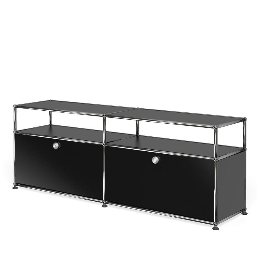 usm haller lowboard l mit aufbau individualisierbar von fritz haller paul sch rer. Black Bedroom Furniture Sets. Home Design Ideas