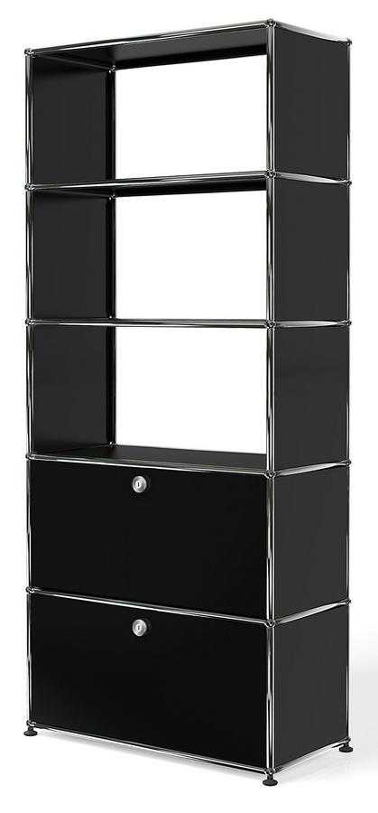 usm haller aktenregal mit 2 klappen oben ohne r ckw nde. Black Bedroom Furniture Sets. Home Design Ideas