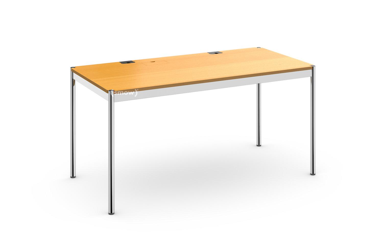 Bevorzugt USM Haller Tisch Plus, 75 x 150 cm, 05-Buche natur, Klappe links RL38